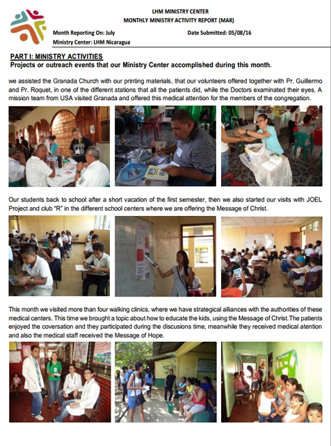 07 LHM Nicaragua July Newsletter 2016