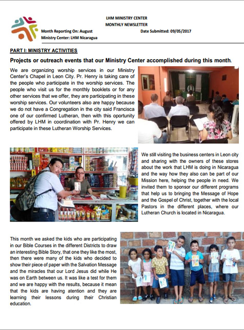 08 August Newsletter LHM 2017