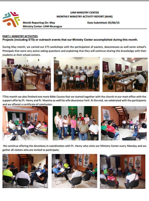 5 May Newsletter- LHM Nicaragua